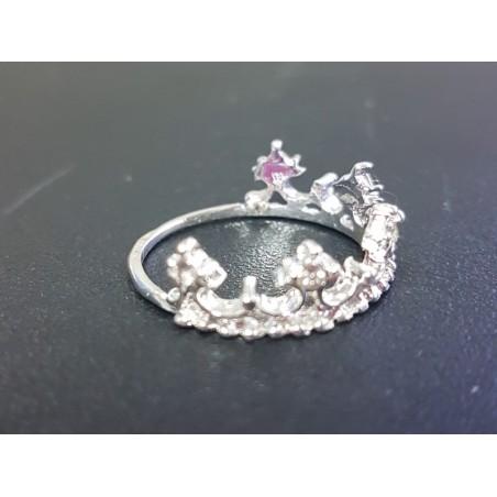 Prinzessin Dame Silber Strass Zirkon Queen Crown Ehering Liebhaber Geschenk RSWK