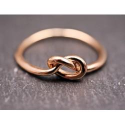 Roségold Knoten Ring