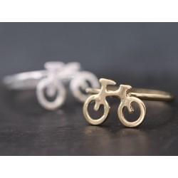 Fahrrad-Ring silber oder gold