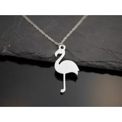 Edelstahl Halskette mit Flamingo Anhänger