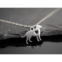 Edelstahl Halskette mit kleinem Hunde Anhänger - Labrador