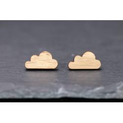 Wolken Ohrstecker aus Holz