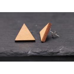 Dreieck Holz Ohrstecker