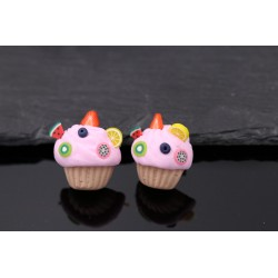 Cupcake Ohrstecker - handgemacht