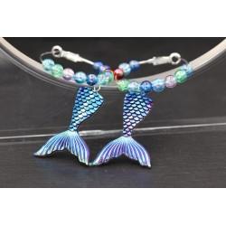 Meerjungfrau Fisch Ohrringe...