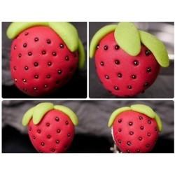 Erdbeer Kinderschmuck-SET:...