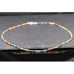 Bunte Mini Perlen Halskette - Glas