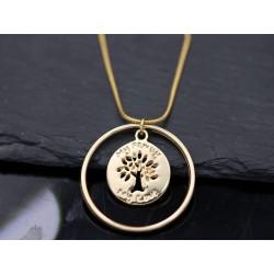 Halskette mit Lebensbaum - gold