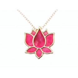 Lotus Blüte gold Kette...