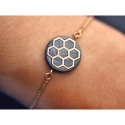 Armband mit handmade Waben...