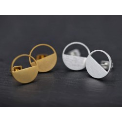 Minimal Kreis Ohrstecker - silber oder gold