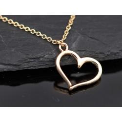 Halskette mit Herz Charm -...