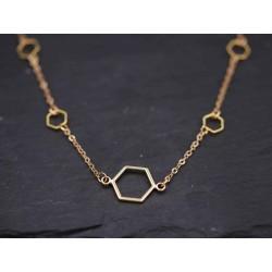 Halskette mit Hexagon...