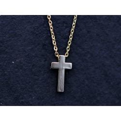 Halskette mit Kreuz - gold