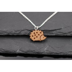 Halskette mit Holz Igel