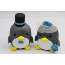 Pinguin Ehepaar Tortenfiguren