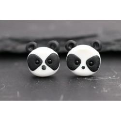 Panda Ohrstecker / Clips...