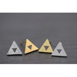 Ein Paar Ohrstecker Dreieck...