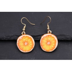 Lustige Orangen Ohrringe -...