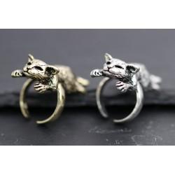 Ausgefallener Katze Ring - silber oder gold