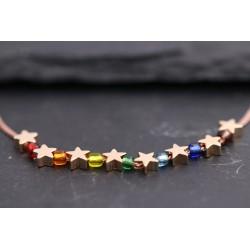 Halskette mit Sternen und...