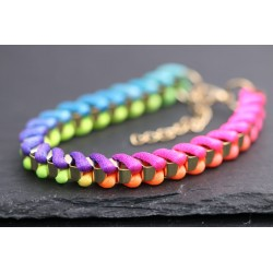 Crazy Neon Armband - gold