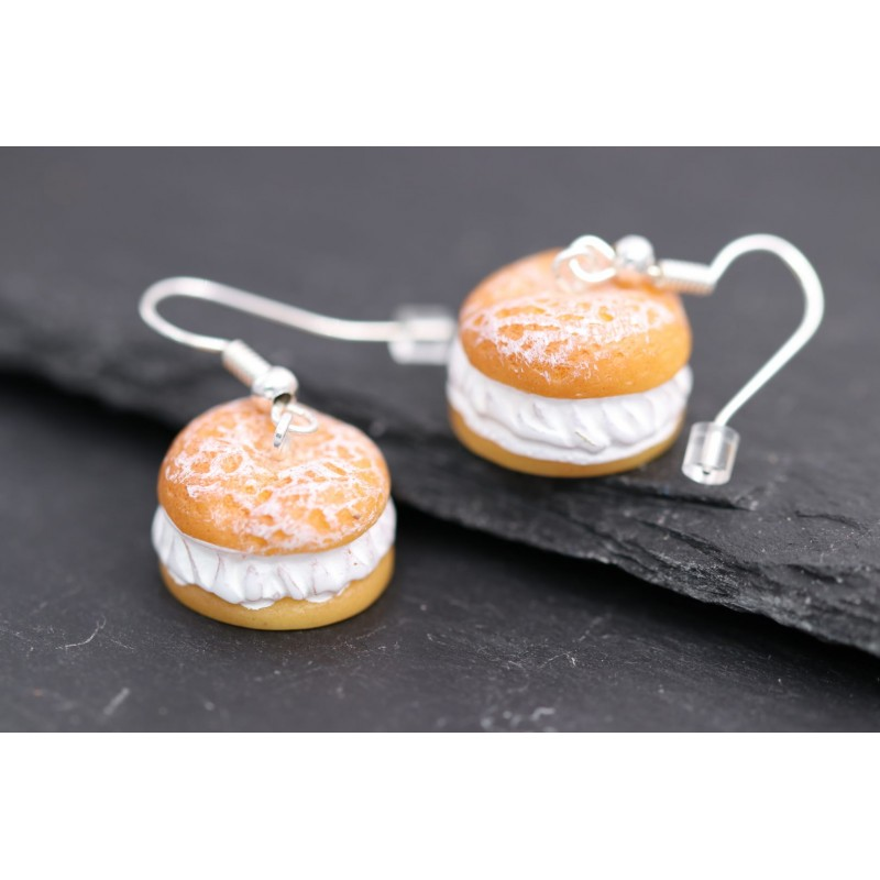 Lustige Windbeutel Kuchen Ohrringe