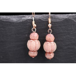 Roségold Ohrringe mit Perlen