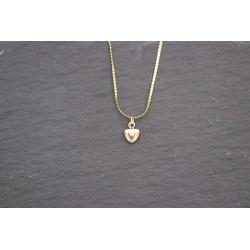 Halskette mit kleinem Herz Anhänger - gold