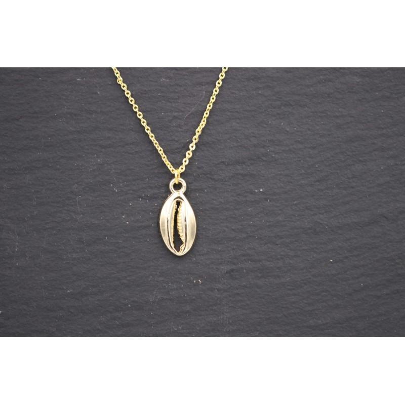 Halskette mit Muschel - gold