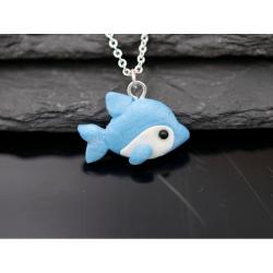 Süßer Delfin als Halskette Handgemacht