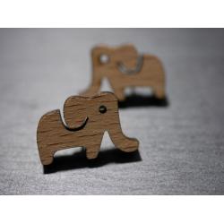 ohrstecker elefant aus holz