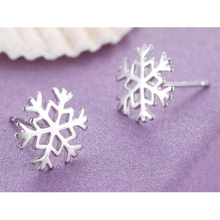 Weihnachten Schneeflocke Ohrschmuck Ohrstecker Cabochon 1 Paar Ohrringe