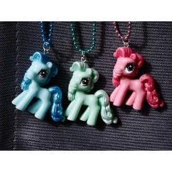 Bunte Pony Kette, glitzerfarben Kugelkette