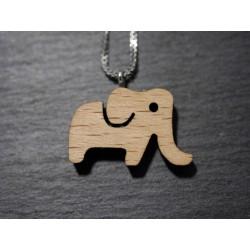 """Holz Halskette mit dem Motiv """"Elefant"""""""