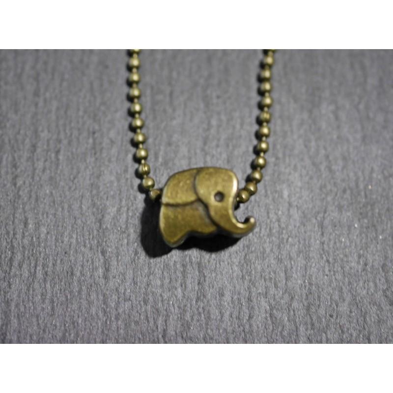 Kleiner Elefant  Halskette - Bronze -