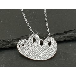Halskette Faultier Anhänger - Silber