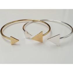 Dreieck Armreif größenverstellbar  gold & silber