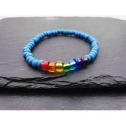 Regenbogen Perlen Armband - Pride - elastisch
