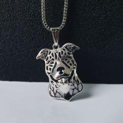 Halskette mit Motiv Hund silber Anhänger - Kette - Tieremotiv - Hunde