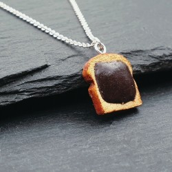 925er Nutella Toast Halskette Nougat-Schokoladencreme Brot