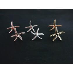 Kleine Seestern Ohrstecker silber , gold oder roségold