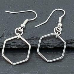 Silber Ohrringe mit...