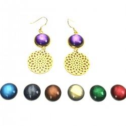 Ohrringe mit Mandala gold...
