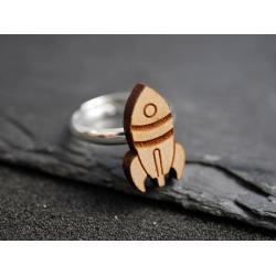 klein raketen ring holz