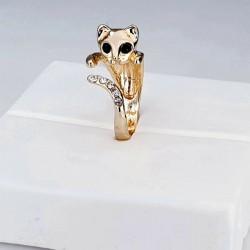 Fingerring Katze gold...