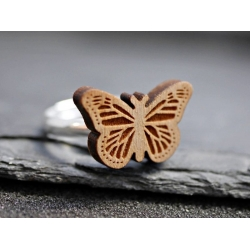 schmetterling holz ring
