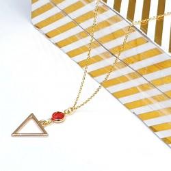 Dreieck Halskette Gold -...