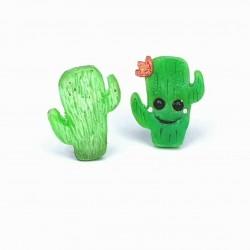 Kaktus Ohrstecker PAAR Ring