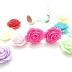 Rosen Ohrclips Blumen...